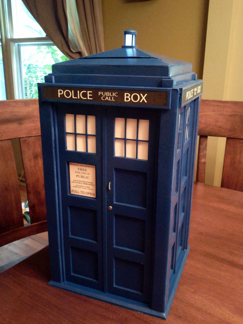 Tardis Wedding Card Box Who Themed Tardis Card Box